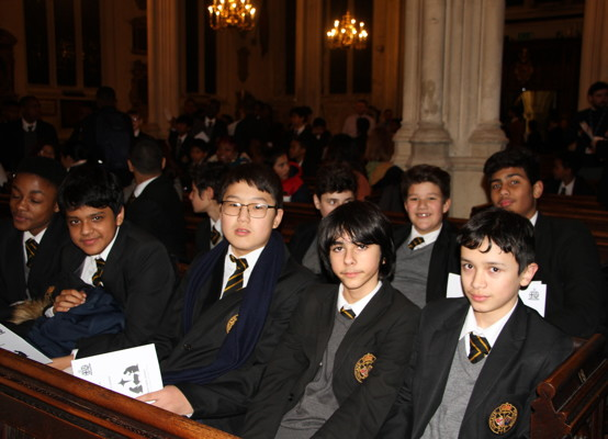 Carol Service 2019 - pupil audience