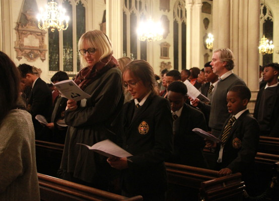 Carol Service 2019 - audience and pupils