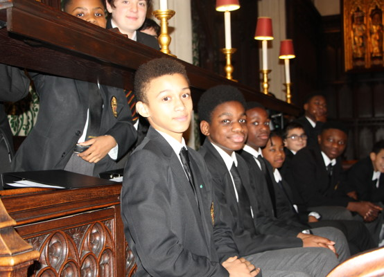 Carol Service 2019 - Choir before
