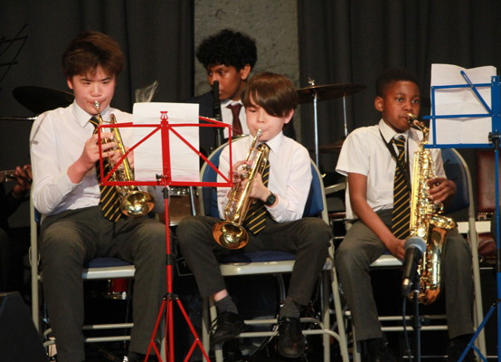 Celebration of Achievement Evening 2021 - Year 7 members of our Wind Band