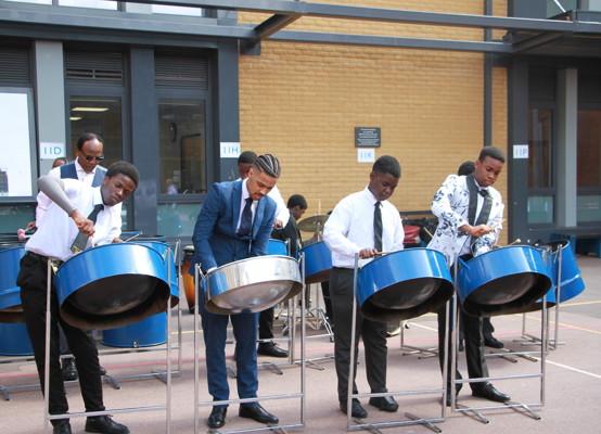 Celebration of Achievement Evening 2021 - our steel pan drums