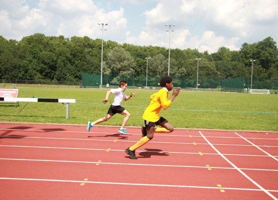Sports Day 2021 - running to the finish line