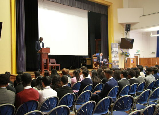 Alumnus John Olatunji talks to our sixth formers